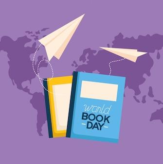 Illustrazione di giornata mondiale del libro