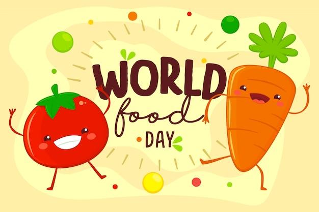 Illustrazione di giornata mondiale dell'alimentazione