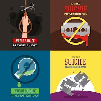 Illustrazione di giornata mondiale della prevenzione dei suicidi