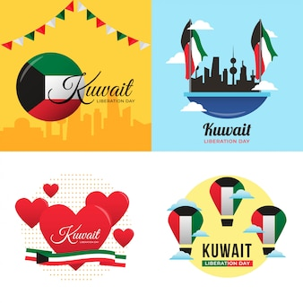 Illustrazione di giorno di liberazione del kuwait