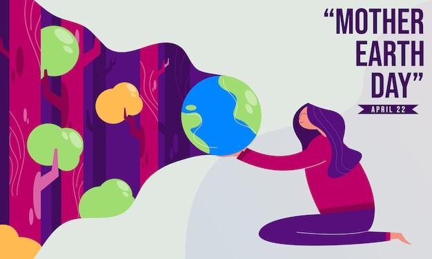 Illustrazione di giorno di madre terra