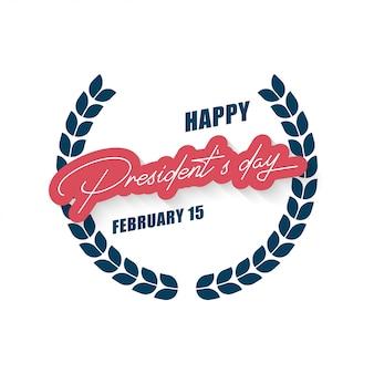 Illustrazione di giorno felice presidente. manifesto del giorno del presidente americano.