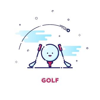 Illustrazione di golf