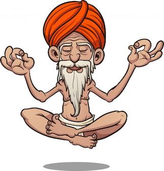 Illustrazione di guru galleggiante