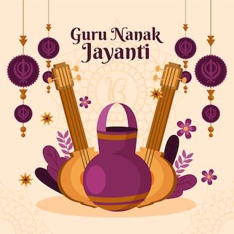 Illustrazione di guru nanak jayanti