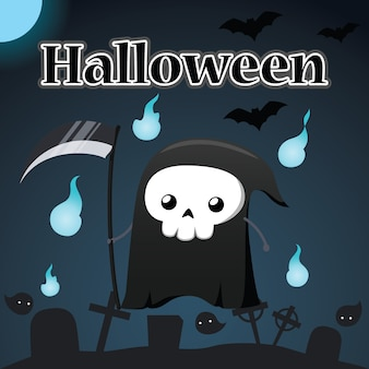 Illustrazione di halloween e reaper