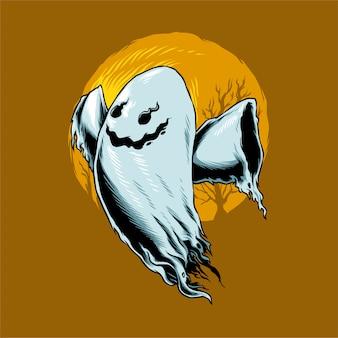 Illustrazione di halloween ghost