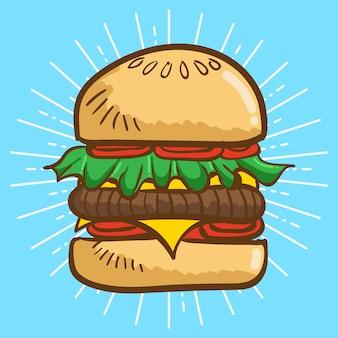 Illustrazione di hamburger