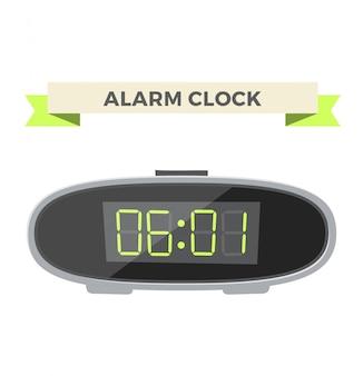 Illustrazione di icona orologio sveglia