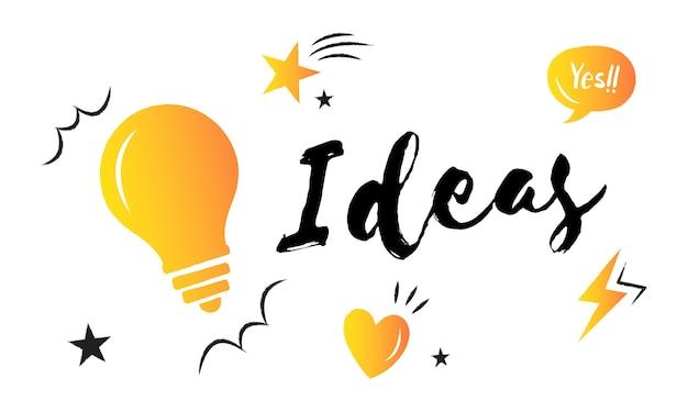 Illustrazione di idee di lampadina