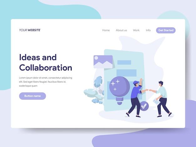 Illustrazione di idee e collaborazione