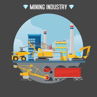 Illustrazione di industria estrattiva.