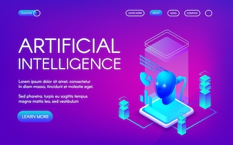 Illustrazione di intelligenza artificiale della tecnologia di innovazione futura.