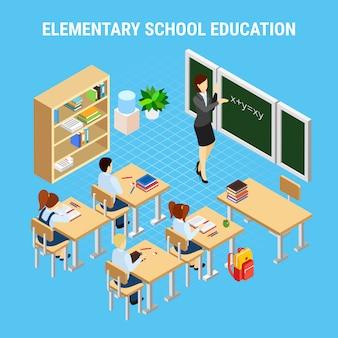 Illustrazione di istruzione della scuola secondaria
