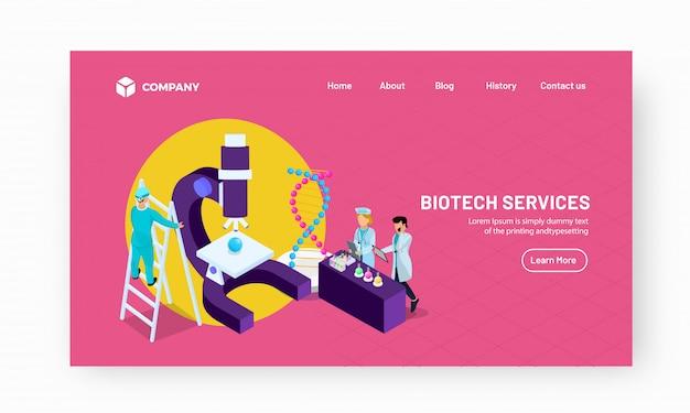 Illustrazione di laboratorio con gli scienziati