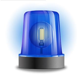 Illustrazione di lampeggiatore sirena