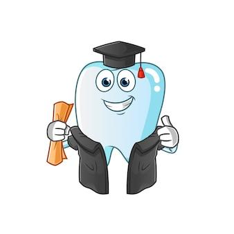 Illustrazione di laurea del dente