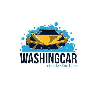 Illustrazione di lavaggio auto