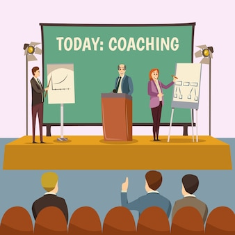 Illustrazione di lezione di coaching