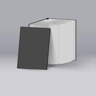 Illustrazione di libri neri