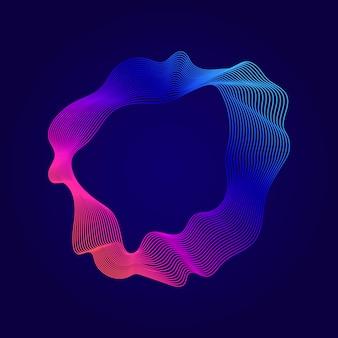 Illustrazione di linee di contorno astratto colorato