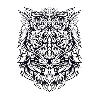 Illustrazione di lionza