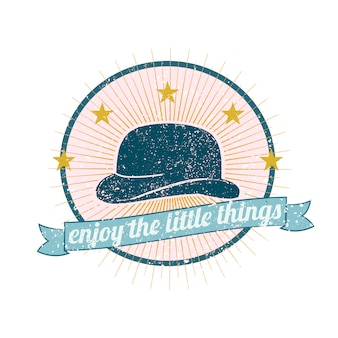 Illustrazione di logo del cappello degli uomini