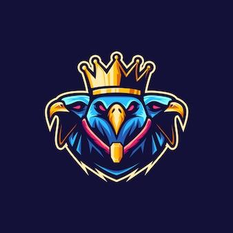 Illustrazione di logo del re vetor eagle