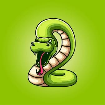 Illustrazione di logo della mascotte serpente
