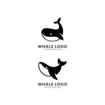 Illustrazione di logo di specie di balena