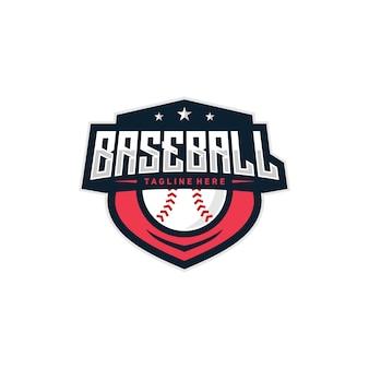 Illustrazione di logo distintivo di baseball