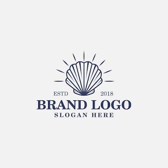 Illustrazione di logo vintage di vongole