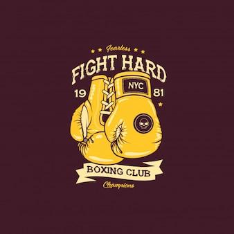 Illustrazione di lotta di boxe