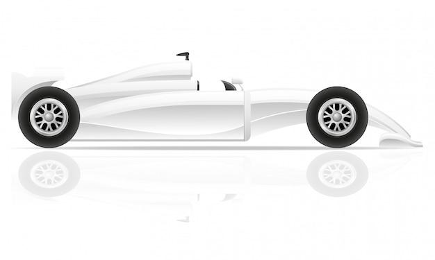 Illustrazione di lusso in bianco dell'automobile sportiva