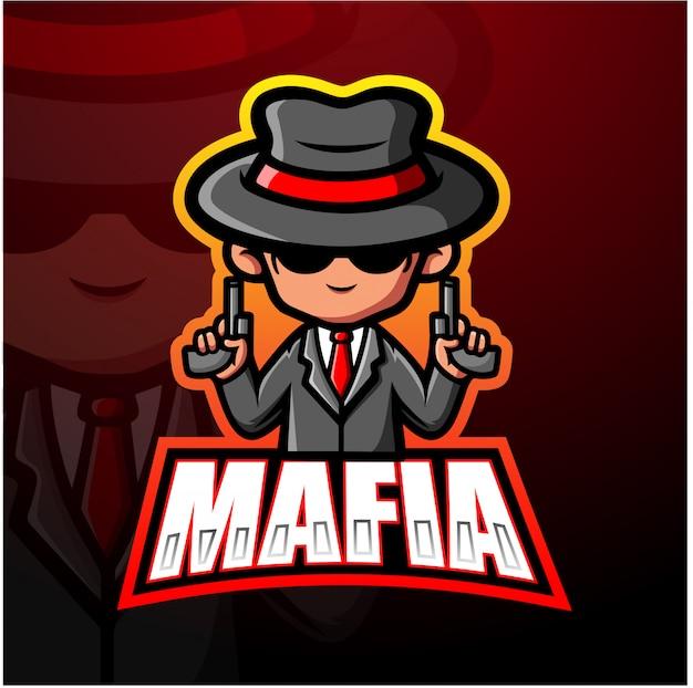 Illustrazione di mafia mascotte esport