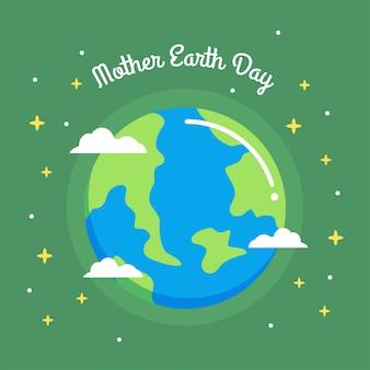 Illustrazione di mamma earth day