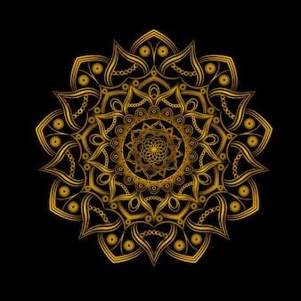 Illustrazione di mandala d'oro