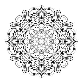 Illustrazione di mandala di lusso creativo