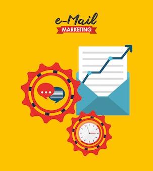 Illustrazione di marketing e-mail