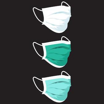 Illustrazione di maschera medica