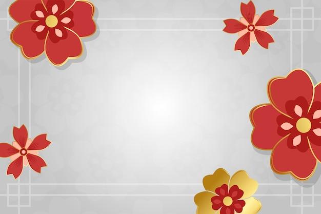 Illustrazione di mockup di nuovo anno cinese