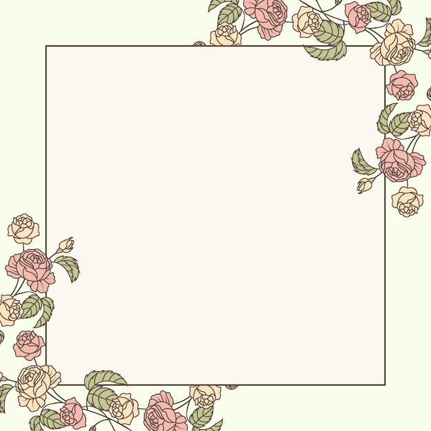 Illustrazione di mockup floreale botanica