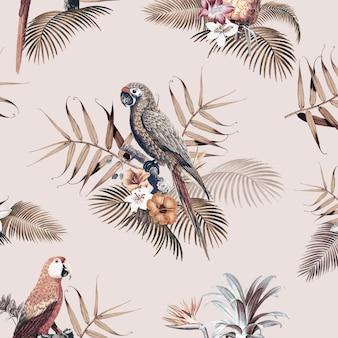 Illustrazione di mockup tropicale ara