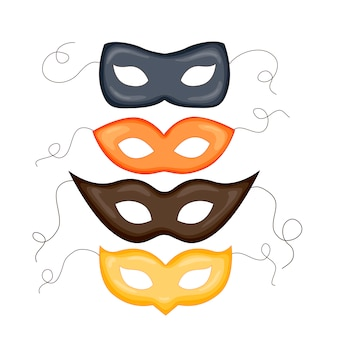Illustrazione di moda maschera di carnevale