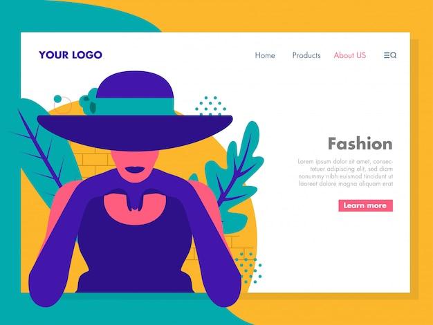 Illustrazione di moda per la pagina di destinazione