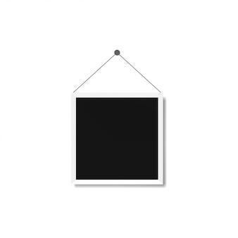 Illustrazione di modelli di cornice su sfondo trasparente per le foto