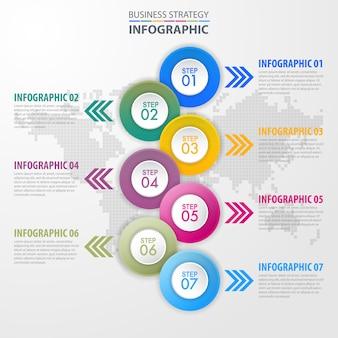 Illustrazione di modello di disegno di infographics di affari. vettore eps10