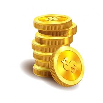 Illustrazione di monete d'oro.