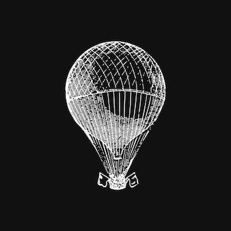 Illustrazione di mongolfiera d'epoca
