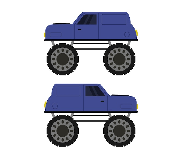Illustrazione di monster truck